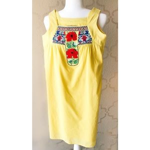 VaVa by Joy Han Yellow summer Dress Mexican XS